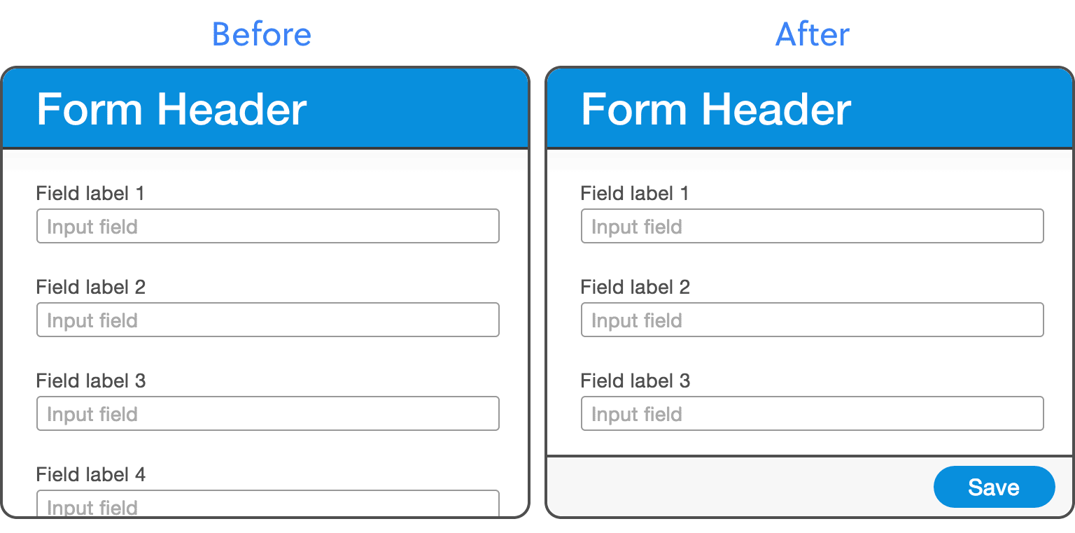You can understand why people couldn't find the Submit button on the left. It's better on the right, but it looks like the form only has 3 fields, because the screen size happens to be so it doesn't cut any content off mid-way.