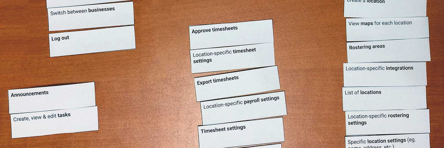 Macro design - card sorting helped us place each feature in its ideal place within the navigational structure.